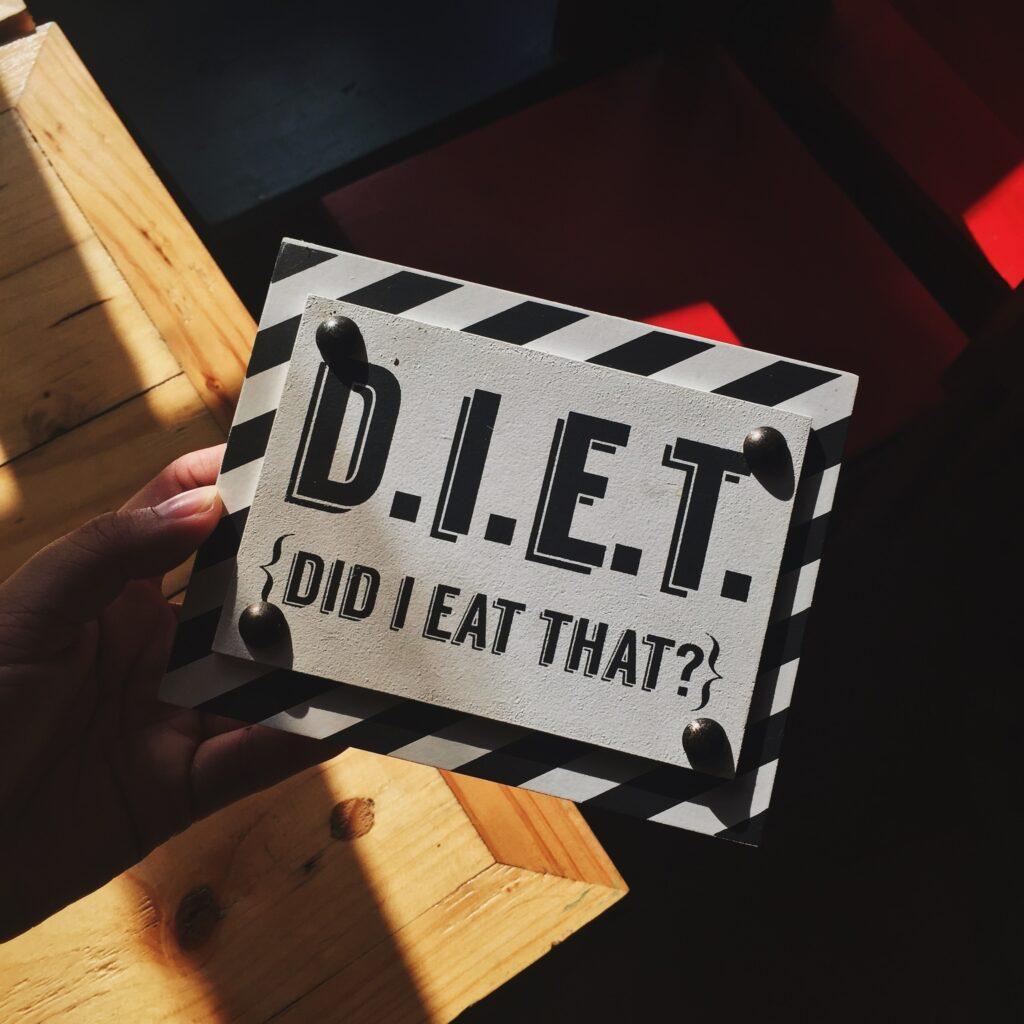 Making a diet plan is hard. D.I.E.T {Did I Eat That?}