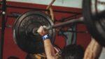 Workout squat overhead